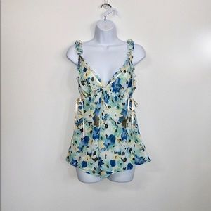 Ambrielle sexy soft floral print two piece